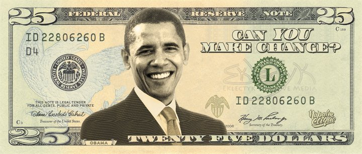 25 Dollar Bill Barack Obama | www.imgarcade.com - Online Image Arcade!