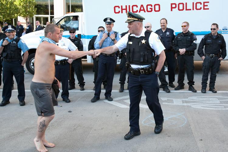 Chicago Police Fist Bump